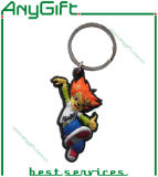 3D pvc Keyring van SOFT met SHAPE Customized en Logo 14