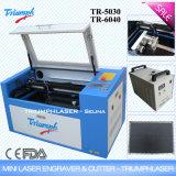CO2 quente da atualização da venda de 60W China máquina de gravura de madeira do laser do mini barato