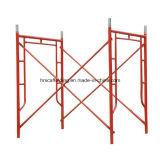 Weg durch h-Rahmen-Systems-Puder-überzogenes Baugerüst