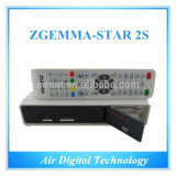 Afinador Satellite Receiver Stock Now do ósmio Two Dvbs2 do linux de Zgemma 2s Original Enigma2
