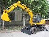 Nuevo usar el excavador de madera de la rueda 8.5ton del cargamento