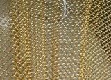 Ячеистая сеть латунного провода декоративная