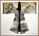 Pintura al óleo abstracta en la textura gruesa Dress-01 antiguo de la lona