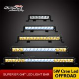 Blauwe Amber Auto4X4 LEIDENE van de Rij van CREE Enige Lichte Staaf