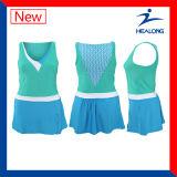 Healongの十分にDriによって合われる染料によって昇華させるテニスのスポーツ・ウェア