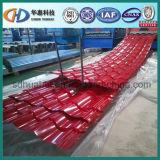 A manufatura de China/corrugou a folha da telhadura/corrugou a chapa de aço/o aço revestido cor! Aço com ISO9001