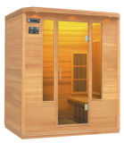 Sauna del infrarrojo lejano del cedro rojo para la persona 4 (FIS-04LC)