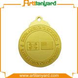 La medaglia del metallo di disegno del cliente vicino la pressofusione