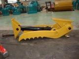 掘削機のバケツのサイズを使用する掘削機の油圧親指