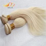卸し売りブロンドの薄い色のカンボジアの人間の毛髪の織り方