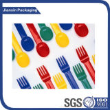Fourche en plastique de vaisselle de cuisine remplaçable pour la vaisselle de fruit de gâteau