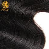 3 lotes de la onda profunda de la Virgen del pelo con cierre de armadura brasileña del pelo de lotes