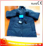 La calefacción eléctrica/calentó la chaqueta