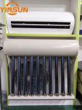 Condicionador solar híbrido fixado na parede com o painel elegante da curva