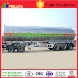 du lait 3axle de l'eau de transport liquide de nourriture de camion-citerne remorque en aluminium semi