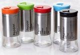 De nieuwe Fles van het Glas van het Keukengerei van de Kruik van het Glas van de Deksels van de Kleur