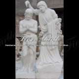 Scultura bianca Mano-Intagliata di Carrara per la decorazione domestica Ms-909