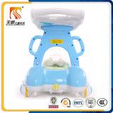 新しいモデルの漫画の4つの車輪を持つ円形の赤ん坊の歩行者