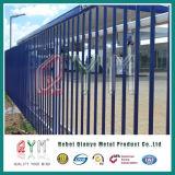Omheining van uitstekende kwaliteit ISO9001 van de Palissade van het Staal van de Omheining van de Veiligheid van de Palissade van het Type van W de Bleke Euro