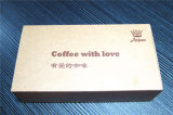 Coffee를 위한 주문 Logo Printed Fancy 브라운 Kraft Paper Box
