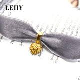 Pendentes encantadores das colares do coração da Ouro-Cor das colares do Choker de veludo para mulheres