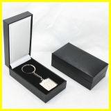 Schwarzer Papierviereck Keychain Kasten