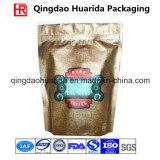 Il di alluminio si leva in piedi in su il sacchetto di caffè con la chiusura lampo e la valvola