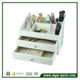 Белая отлакированная деревянная коробка хранения ювелирных изделий