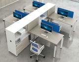 Poste de travail moderne de compartiment de partition de panneau d'écran pour le bureau