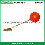 Válvula de flotador de cobre amarillo modificada para requisitos particulares de la calidad con la bola plástica (AV5026)