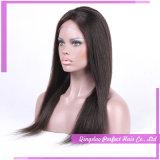 Parrucche piene malesi del merletto di Glueless dei capelli umani