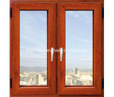 Aluminum personalizzato Double Glazing Windows, Casement Window con Flyscreen
