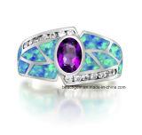 作成されたオパールが付いている方法宝石類のリング