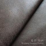 Tessuto di Microfiber Nubuck del cuoio della pelle scamosciata della stagnola di oro per la tessile domestica