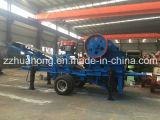 Planta machacante móvil rodada conducida acoplado de la trituradora de piedra de la quijada