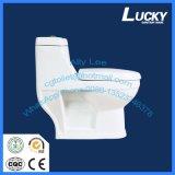 Preiswertes ein 4 Inch-Anschluss-Loch waschen unten einteilige gesundheitliche Ware-Toilette