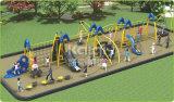 Kompakter kletternder Systems-im Freienspielplatz mit multi Spiel-Spielen
