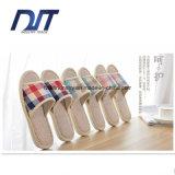 Calzado de lino popular de 2016 de Healthycare del algodón amantes de los deslizadores
