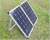 jogo portátil do painel 120W solar com a braçadeira da bateria para o carro