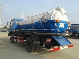 155kw 4X2 Dongfeng 10000 litros de las aguas residuales de la succión de carro del tanque