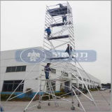 AluminiumAlloy Doppeltes-Width Scaffolding mit Casters