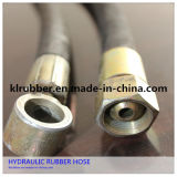 Wire d'acciaio Braided Hydraulic Rubber Hose con Couplings