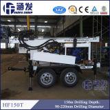 O tipo máquina Drilling do reboque da água (HF150T), pode trabalhar com bomba de lama e compressor de ar