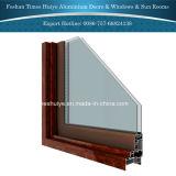 ألومنيوم ميل ودورة نافذة مع مختلفة لون وتصميم