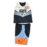 Basket-ball réversible à une seule couche Jersey avec le logo fait sur commande