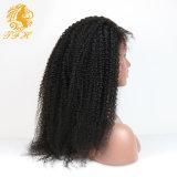 バージンのモンゴルのアフリカのねじれた巻き毛のかつらのレースの前部人間の毛髪のかつらの黒人女性の前部レースのかつらのための完全なレースの人間の毛髪のかつら