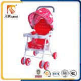 De lichtgewicht Plastic Wandelwagen van de Baby van de Zetel Rode met 6 Wielen van EVA