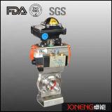 Válvula de borboleta rosqueada manual sanitária do aço inoxidável (JN-BV1017)