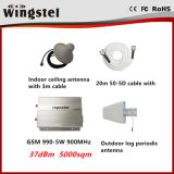 Мощный репитер сигнала 37dBm 5000m2 GSM990 5W 900MHz передвижной с антеннами