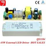 45W Voltaje Singel Externa Controlador de LED aislado con Ce TUV